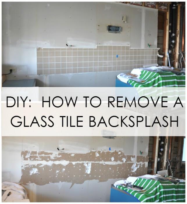 broken glass backsplash