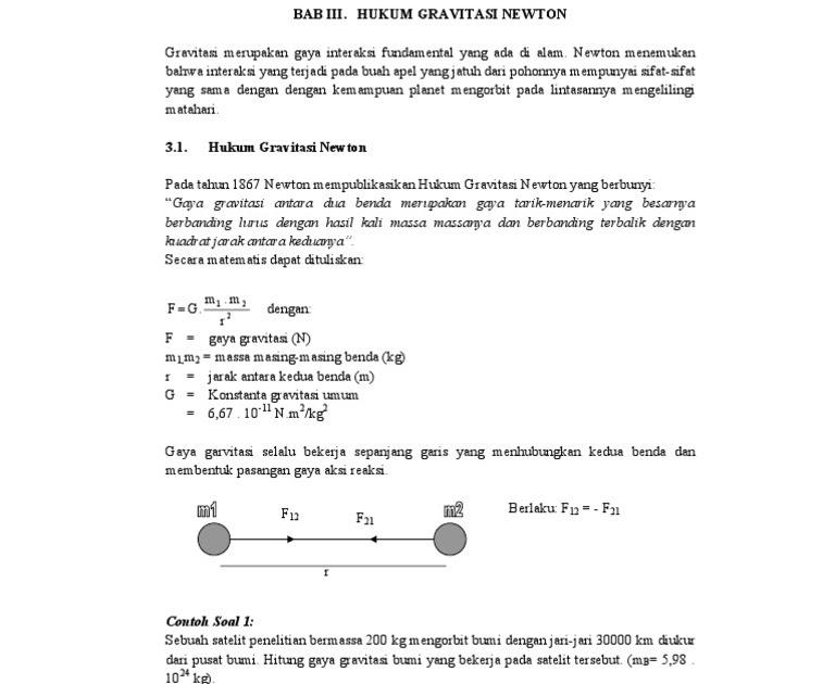 Hukum gravitasi newton lengkap + contoh soal. Contoh Soal Dan Pembahasan Hukum Newton Tentang Gravitasi