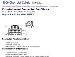 CarFusebox: Chevrolet Cobalt Radio Stereo Wiring Diagram