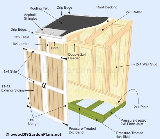 Pent Roof Shed Plans