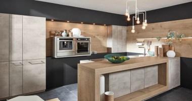 Kuche Weiss Beton Holz   Best Home Ideas 2020 ...