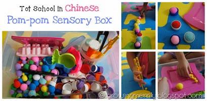 Pom-pom Sensory Box