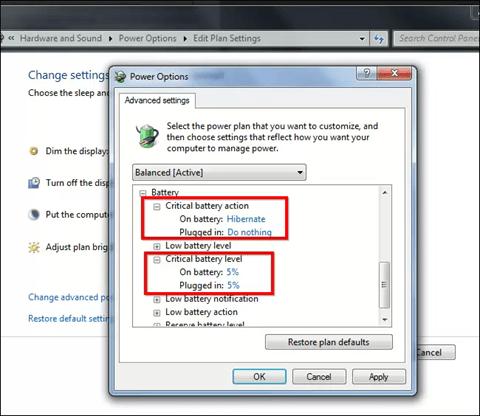 computer power management settings