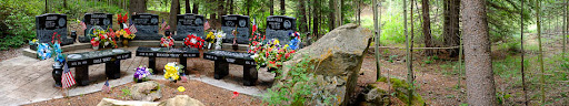 The memorial to six miners and three rescuers who died in the 2007 Crandall Canyon Mine disaster near Huntington, Utah.
