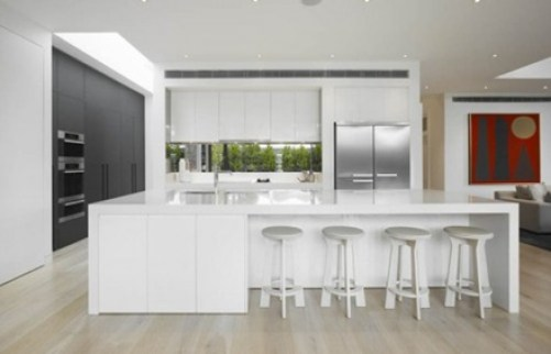 cocina-moderna-encimera-blanca Cocinas modernas blancas