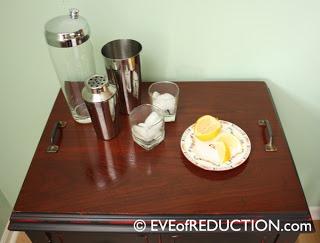 repurposed sewing cabinet DIY bar cart