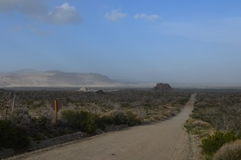 dust storms near Mid Hills campground