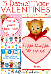 Wife Mom Geek - Daniel Tiger Valentines