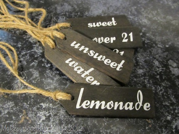 vinyl letters beverage tags (stained) (3)