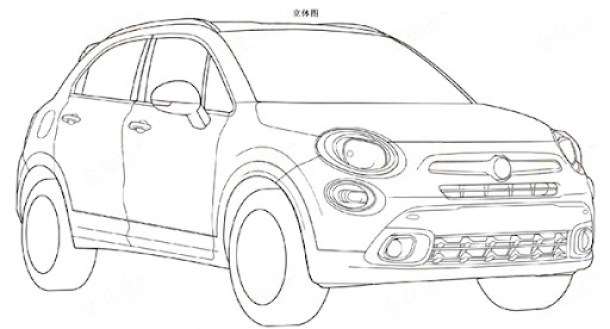 Fiat-500X-patent-front-three-quarters