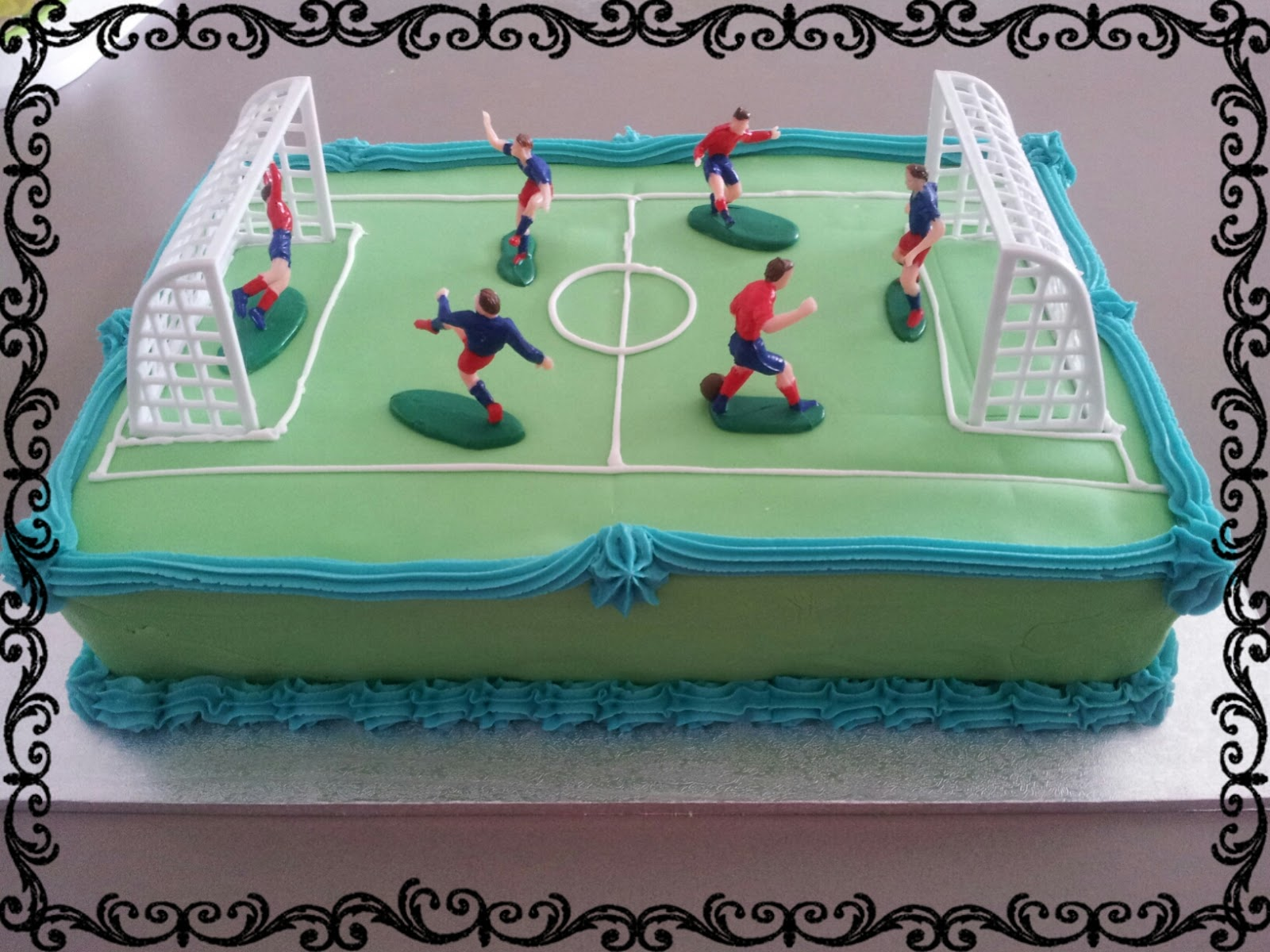 Lucy S Delicious Cakes Soccer Field Birthday Cake