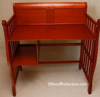 changing table upcycled to desk