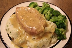 Ranch House Pork Chops with Garlic Parm Mashed Potatoes