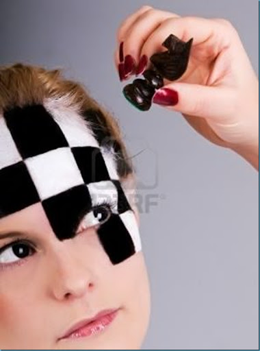 4053427-fashion-model-with-a-chess-pattern-drawn-in-her-face