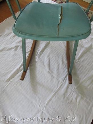 vintage metal rocking chair (3)
