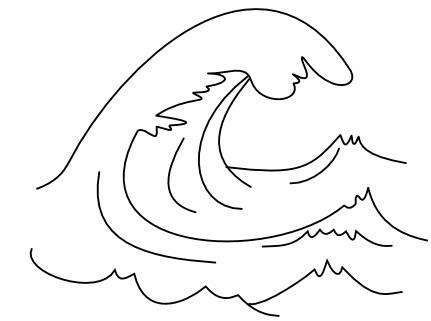 Resultado de imagen para olas dibujo para colorear