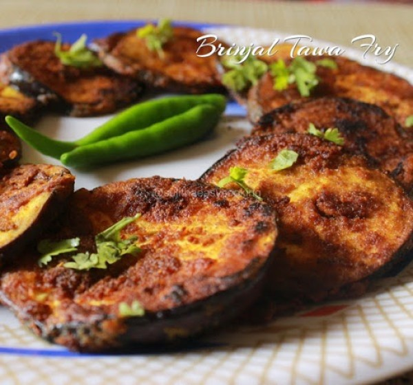 Brinjal Tawa Fry