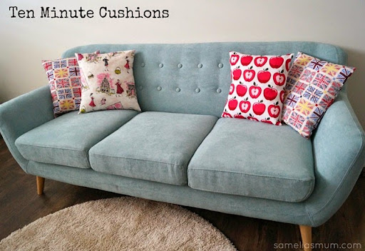 Ten Minute Cushions {Tutorial} - Samelia's Mum
