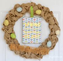 Simple Spring Burlap Wreath