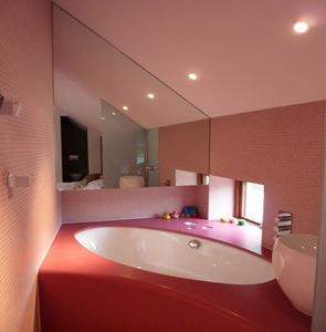 azulejos de baño color rosa