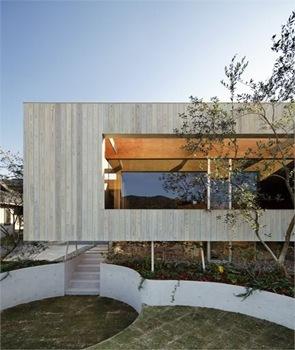 Fachada moderna de madera para casa