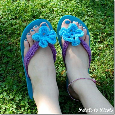 crochet flip flops tutorial