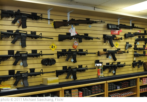 'Gun Wall' photo (c) 2011, Michael Saechang - license: http://creativecommons.org/licenses/by-sa/2.0/