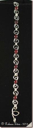garnet swirls bracelet