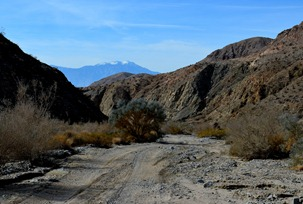Mt San Jacinto looking west down Berdoo Canyon