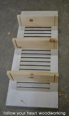 Repurposed Shutter Shelf 3