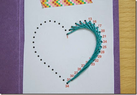 Paper Embroidered Heart