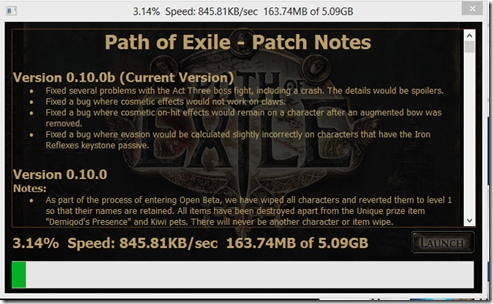 Daru baixando Path of Exile