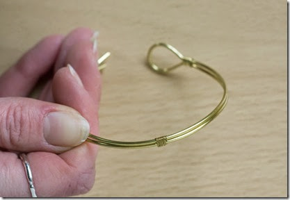 Brass Wire Bangle DIY