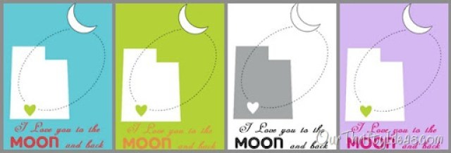 """Our Thrifty Ideas   DIY Frame and """"I Love You to the Moon and Back"""" free #printable   #Utah #Kids #DIY"""