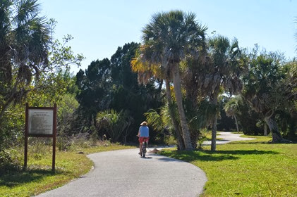 on the bike trail at Fort DeSoto