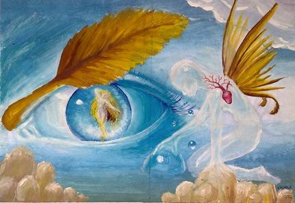 Imagini pentru imagini din picturi suprarealiste cu lacrima