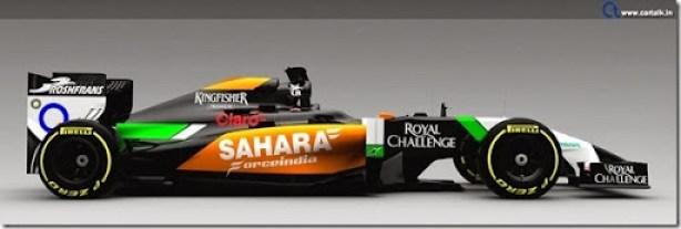 Force India VJM07 2014 F1 Car