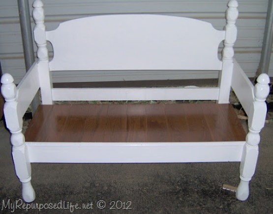 Surprising 50 Headboard Bench Ideas My Repurposed Life Rescue Re Short Links Chair Design For Home Short Linksinfo