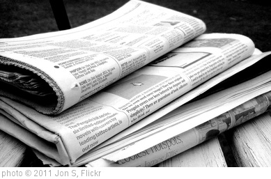 'Newspapers B&W (5)' photo (c) 2011, Jon S - license: http://creativecommons.org/licenses/by/2.0/