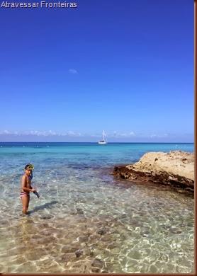 Cozumel, México. Playa Azul, mergulhando com snorkel