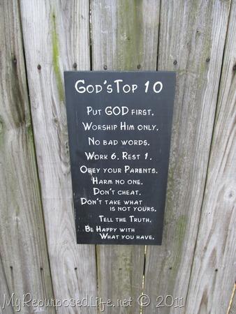 God's Top 10 Sign