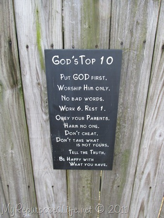 God's Top 10 Sign