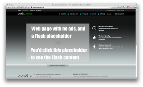 Speedtest no ads flash placeholder