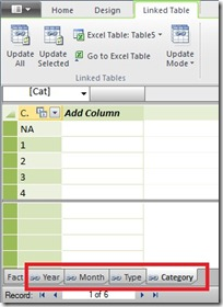 2 Create linked tables for slicers