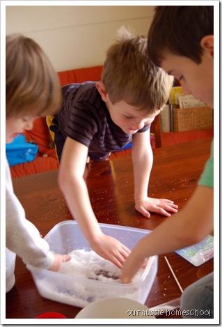 Bear Hunt Sensory-Snow! ~ Our Aussie Homeschol