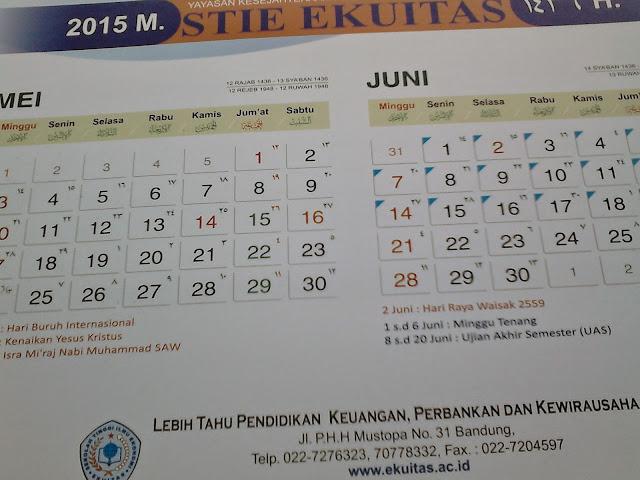 DSC_0045 Kalender meja 2015, promosi kampus
