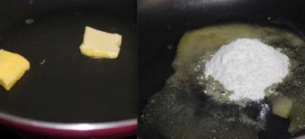 White Sauce Sandwich Step 1