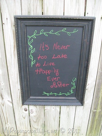 picture frame chalkboards