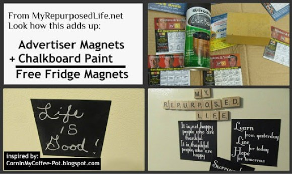 DIY Free Fridge Magnets & Signs