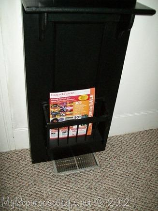 repurposed door halltree magazine rack